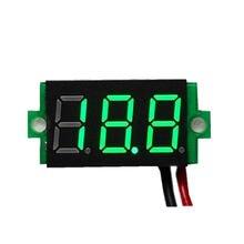 1pcs digital voltímetro display led mini 2/3 fios medidor de tensão amperímetro alta precisão vermelho/verde/azul dc 0v-30v 0.36