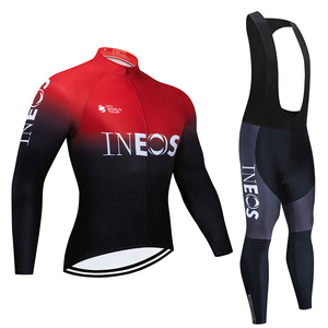 2020 INEOS Long Sleeve Cycling Clothes Set NW Pro Team Jersey Men Suit Breathable Outdoor Sportful Bike MTB Clothing Paded