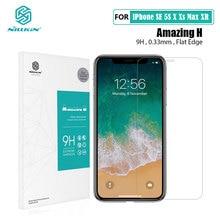 Protetor de tela para iphone 12 mini vidro temperado glassfor iphone xr x xs max 11 pro max nillkin h 0.33mm
