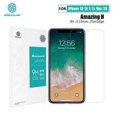 강화 유리 아이폰 XR X Xs 최대 11 프로 최대 12 미니 Nillkin H 0.33MM 화면 보호기 아이폰 12 프로 최대 유리