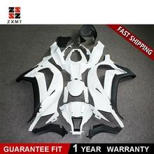 цена на ZXMT Customized Injection fairing Kit Fits For Kawasaki Ninja ZX10R 2011-2015 2013 2014 Unpainted White ABS Injection Bodywork