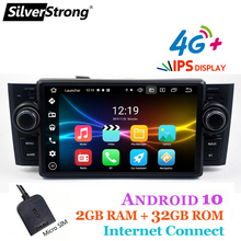 Silverstrong Gps Android10 Auto Radio Voor Fiat Grande Punto 1 Din Dsp Linea 2007-2012 Android Autoradio