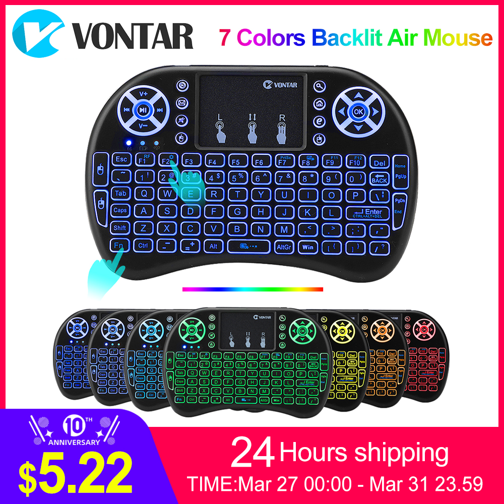 VONTAR Air-Mouse-Touchpad Tv-Box Russian Mini Pc I8 Hebrew-Version Handheld Android Wireless-Keyboard title=