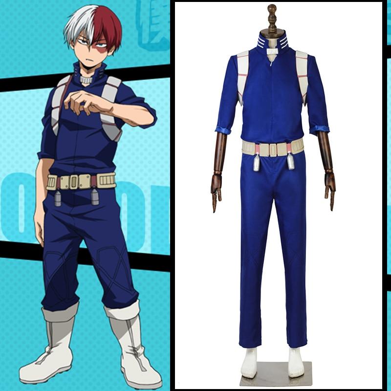 Hot Anime My Hero Academia Todoroki Shoto Cosplay Party Costume Battle Suit New