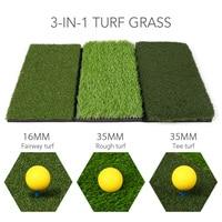 3 IN 1 Residential Golf Hitting Mat Golf Swing Pad Backyard Practice Golf Training Turf Grass Mat Tee Holder Foam Balls Included
