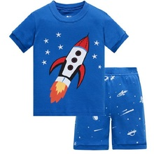 Hot Summer Kids Pajamas Baby Boys Clothing Cartoon Costume Short Sleeve Pijamas children Sleepwear Sets