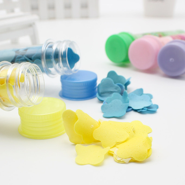 Disposable Travel Mini Scented Soap Bath Child Hand Washing Soap Paper Tube Portable Petal Soap Paper Random Colors 3