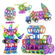 30/46 stücke Große Größe Magnetische Designer Magnet Bausteine mit 2 Räder Zubehör Pädagogisches konstruktor Spielzeug Für Kinder