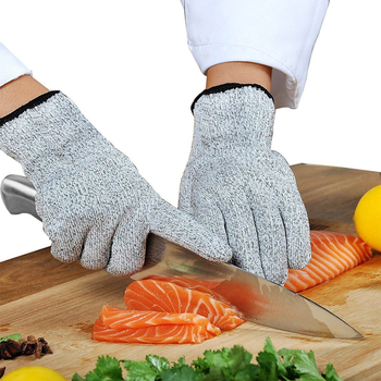 1 Pair Anti-cut Gloves Safety Cut Proof Stab Resistant Stainless Steel Wire Metal Mesh Kitchen Butcher Cut-Resistant Safety anti cut gloves safety cut proof stab resistant anti cut level 5 safety work gloves kitchen butcher cut resistant gloves