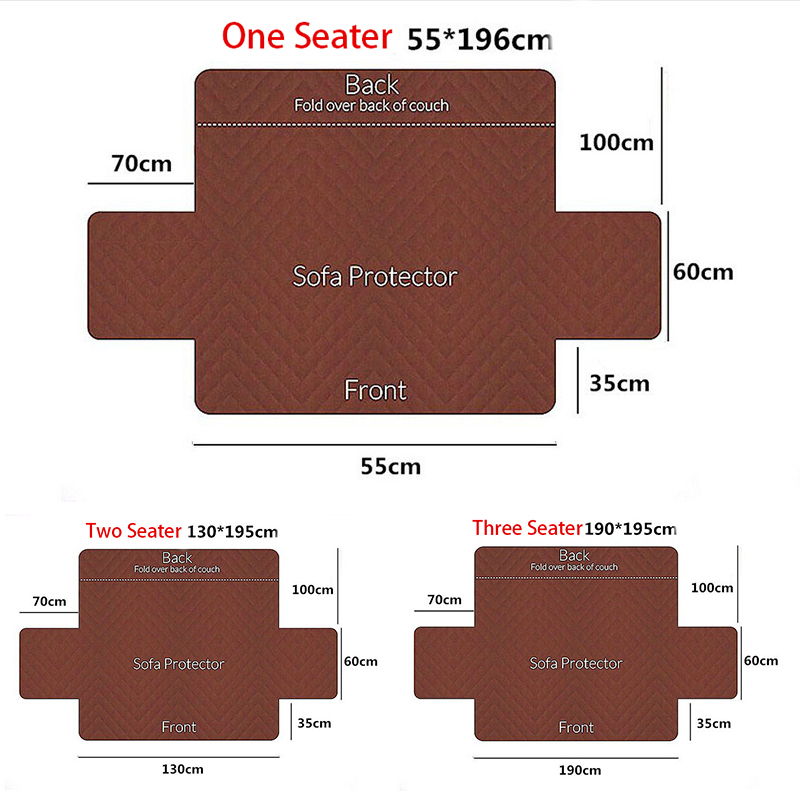 Quilted Anti-wear Sofa Covers for Dogs Pets Kids Anti-Slip Couch Recliner Slipcovers Armchair Furniture Protector 1/2/3 Seater 5