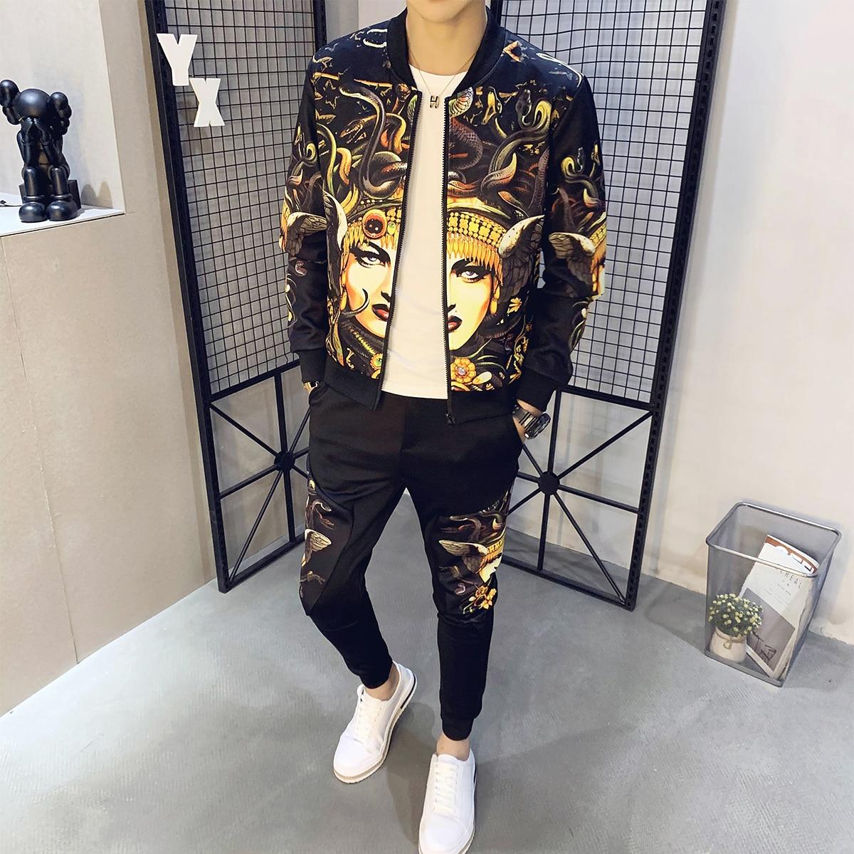 2 Piece Sets Sport Suit Jacket + Pants Chandal Hombre Tracksuit Men Moda Hombre Ropa De Hombre 2020 Men's Set Autumn Man Sport