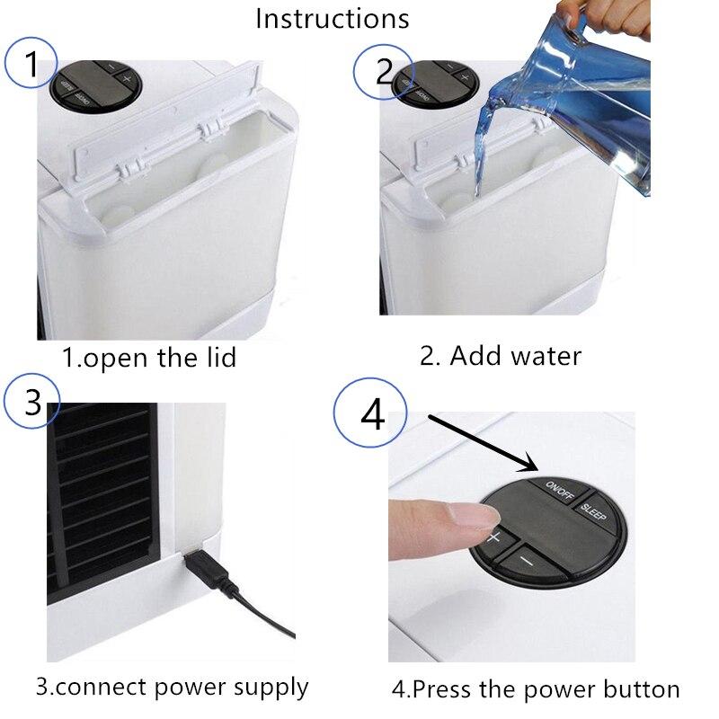 Image 5 - Охладитель воздуха вентилятор кондиционер увлажнитель воздуха вентилятор охлаждения мини USB портативный Настольный дропшиппинг 10 15 дней Прибытие в США ЕС FAВентиляторы    АлиЭкспресс