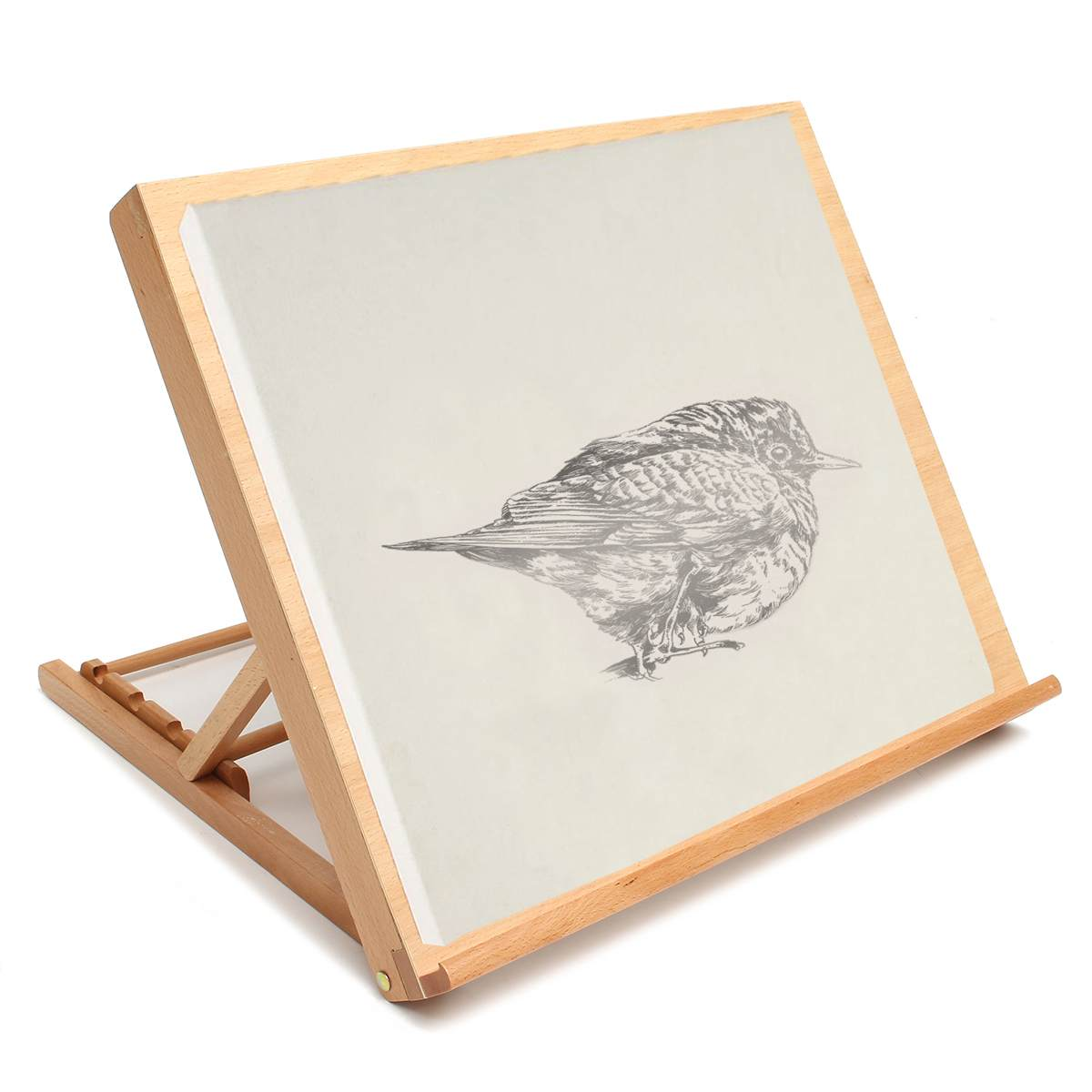 Wooden Drawing Table Portable Sketch Bookshelf Wood Stand Desktop Watercolor Oil Easel For Painting Art Supplies For Artist