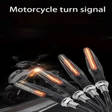 2 PCS motorcycle LED water bend signal lamp, highlight warning light, suitable for most motorcycles, electric cars 12V