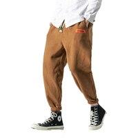 Men Harem Pants Japanese Casual Cotton Corduroy Trouser Man Jogger Pants Chinese Baggy Pants Male Hiphop Harajuku Loose Pants