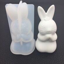 Mold DIY Epoxy Resin Rabbit Silicone Pendant-Tools 3D Jewelry Handmade