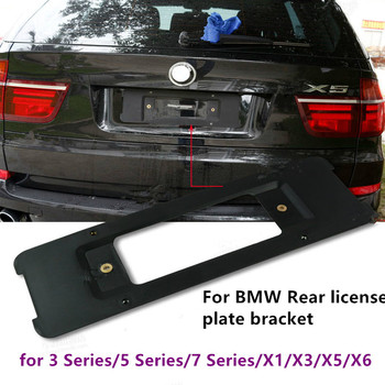 цена на Car Number Plate License Plate Frame Auto Accessories Car Rear License Plate Bracket with Screw for BMW X1 X3 X5 X6 3/5/7 Series