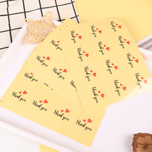 120pcs/lot Transparent Thank You Seal Sticker Decorative Gifts Baking Package Labels