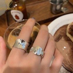 XIYANIKE 925 Sterling Silver Korean Retro Irregular Wavy Wide Ring INS Popular Fashion Hot Refinement Temperament Кольцо