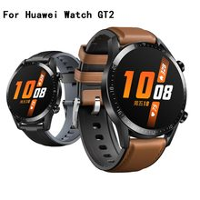 22MM Leather Wrist Strap For Xiaomi Amazfit GTR 47MM 47 Stratos 2 2S 3 Pace Band For Huawei Watch GT 2 GT2 46mm Bands Silicon(China)