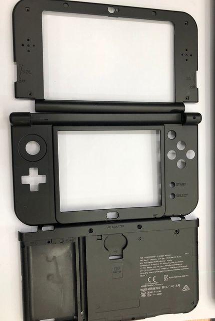 4 цвета, Оригинальная передняя панель жидкокристаллический дисплей, экран, корпус среднего корпуса, часть петли, нижняя средняя оболочка, чехол для батареи для новых 3DS XL LL