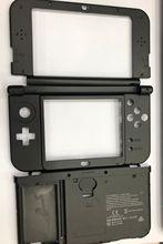 Painel frontal original lcd 4 cores, parte inferior da dobradiça escudo médio + capa da bateria para nova 3ds xl ll