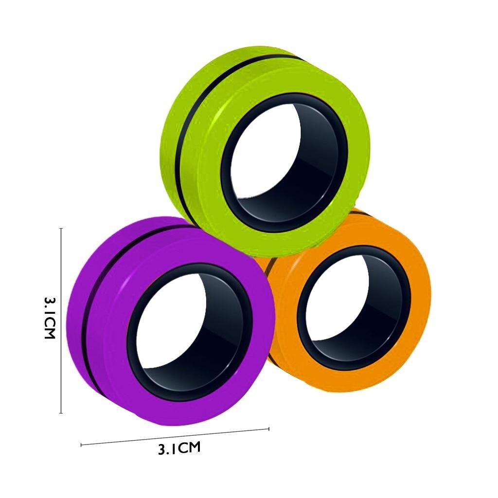 Toy Fidget-Toys Magic-Ring-Props Stress Magnetic Unzip 3pcs Zabawki img5