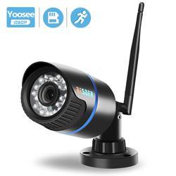 Besder yoosee câmera ip wifi 1080 p 960 p 720 p onvif sem fio com fio p2p cctv bala câmera ao ar livre com slot para cartão miscosd max 64g