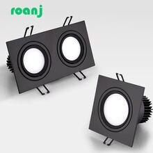 Черный светодиодный светильник с регулируемой яркостью точечный