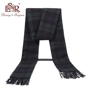 Image 4 - 2020 Cashmere Man Scarf Winter Warm Foulard Plaid Scarves Fashion Casual Scarfs Wool Bufandas Hombre Male Thickness Shawl Sjaal