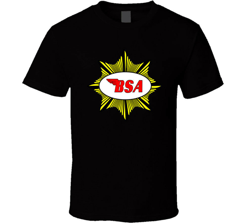 <font><b>Bsa</b></font> British Classic Motorcycle <font><b>Shirt</b></font> Black White Tshirt Men'S Free Shipping M Xl 2Xl 5Xl Tee <font><b>Shirt</b></font> image