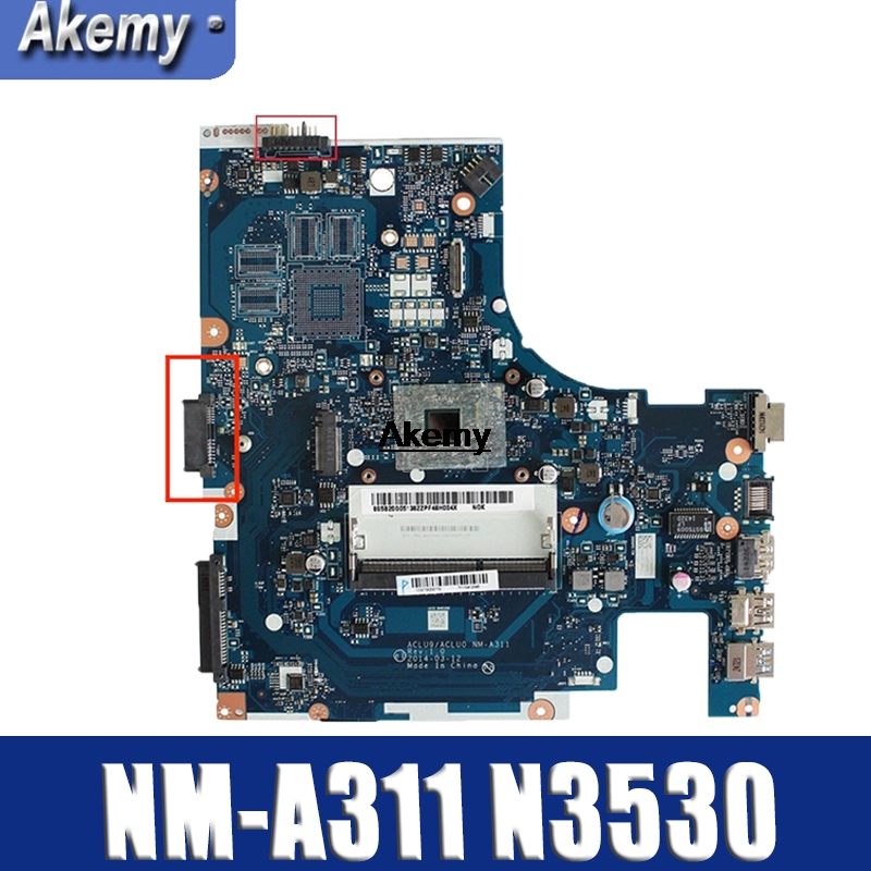 Brand New !!! ACLU9 / ACLU0 <font><b>NM</b></font>-<font><b>A311</b></font> Motherboard for Lenovo G40-30 laptop Motherboard ( for intel N3530 CPU ) 100% tested image
