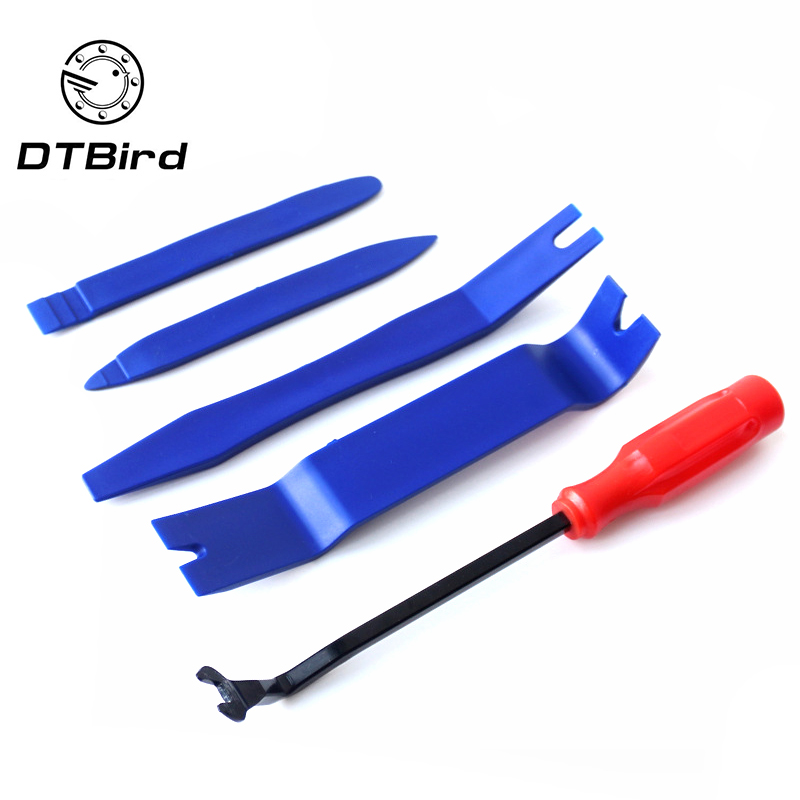 5pcs/lot Car PDR Removal Tools Automobile Nail Puller Radio Audio Panel Door Repairing Clip Trim Removal Pry Repair Tool Plastic