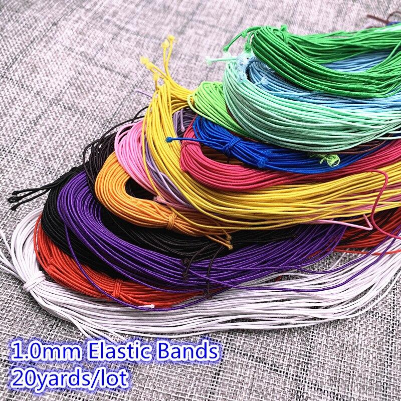 Новинка 1,0 мм 20 ярдов высокоэластичная круглая эластичная повязка на резиновый ремешок эластичный шнур Швейное Ремесло «сделай сам»