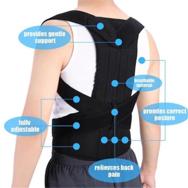 Men Women Adjustable Magnetic Posture Corrector Male Corset Back Support Belt Lumbar Support Sports Safety Straight Corrector 4