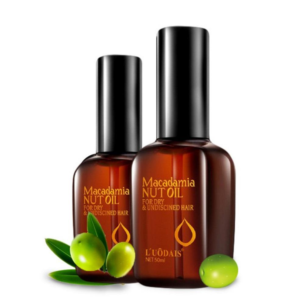 100% Pure Moroccan Argan Oil Macadamia Nut Oil Hair Care Scalp Treatment Make Your Hair Shine Soft Hair Conditioner 50ML