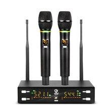 G-MARK X320FM-micrófono inalámbrico profesional para Karaoke, Frecuencia ajustable corporal de Metal a 80M de distancia