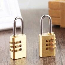Hohe Qualität Solide Messing Schloss Travel Passwort Gepäck Lock Digit Kombination Passwort Padlock Fitnessraum Locker Kleiderschrank Box Code Schlösser
