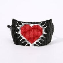 Rttooas браслеты с красным сердцем женские 2020 ручной работы