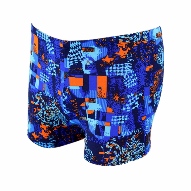 2019 New Style Men's Fashion Boxer Printed Swimming Trunks Hot Springs Large Size Men Low Price Run-Swimming Trunks