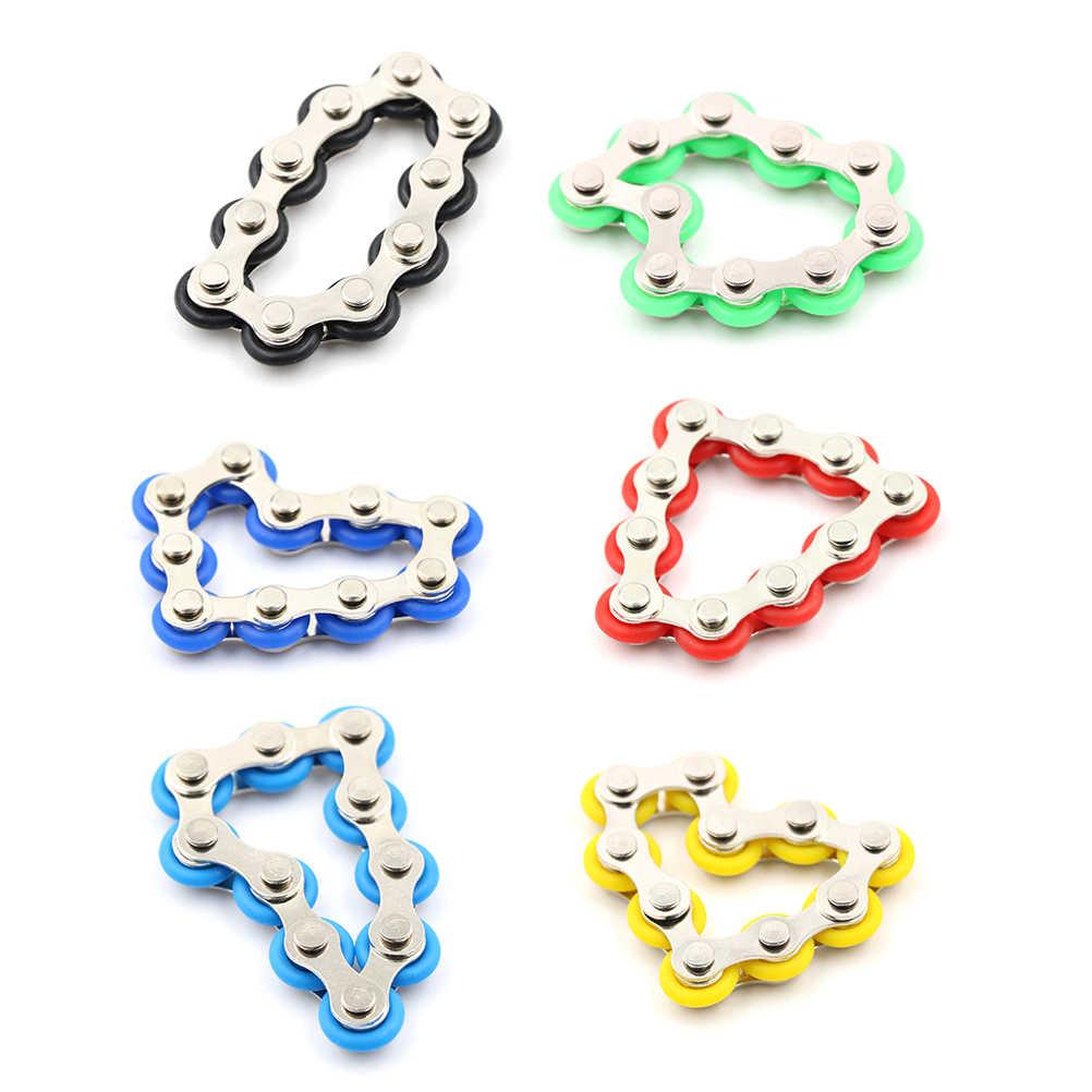 Yeni satış bisiklet zinciri Fidget Spinner bilezik otizm ve dehb için Fidget oyuncak Anti stres oyuncak çocuklar için/yetişkin /öğrenci