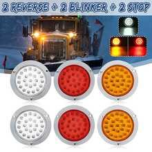 24 luzes traseiras do carro do diodo emissor de luz da cauda do diodo emissor de luz param a luz de freio para veículos do reboque do caminhão ônibus barcos 10-30 v lâmpada lateral vermelho amarelo branco