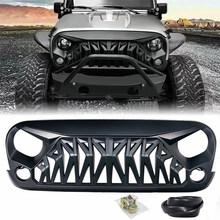 ABS Grille Cover For Jeep Wrangler JK JKU 2007 2008 2009 2010 2012 2013 2014 2015 2016 2017 Unlimited Rubicon Sahara Sport