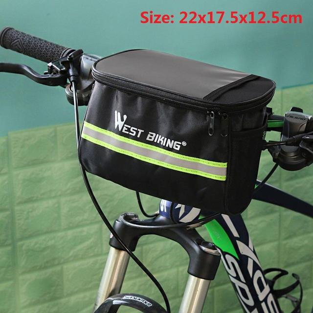 Cycling Bags Bicycle Handlebar Bag Front Tube Pannier Rack Bike Basket Cotainer