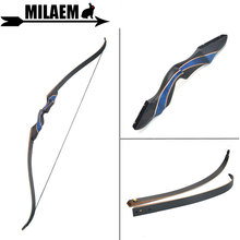 цена на 1Set 56inch 20-55lbs Archery Recurve Bow Takedown American Hunting Bow Glassfiber Laminate Limbs Outdoor Shooting Accessories