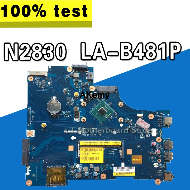 CN-028V9W 28V9W FOR DELL INSPIRON 15 3531 Laptop Motherboard ZBW00 LA-B481P REV:1.0(A00) N2830 Mainboard NOTEBOOK PC