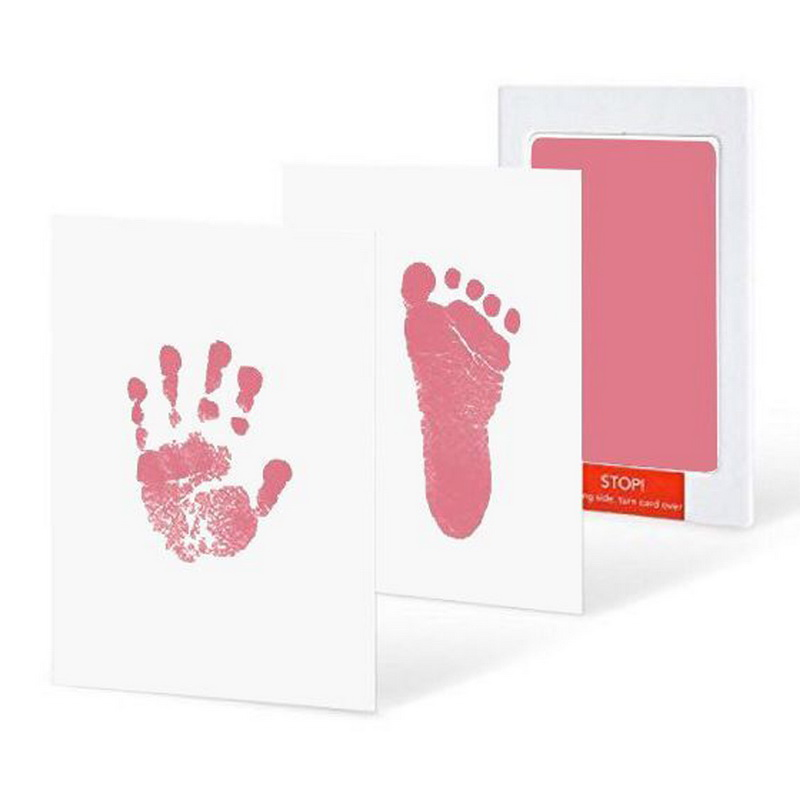 CYSINCOS Baby Handprint Footprint Non-Toxic Newborn Imprint Hand Inkpad Watermark Infant Souvenirs Casting Clay Toys Gifts
