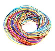 98 pçs colorido trançado corda pvc trançado fio plástico diy trançado corda diy trançado corda pvc plástico diy trançado corda