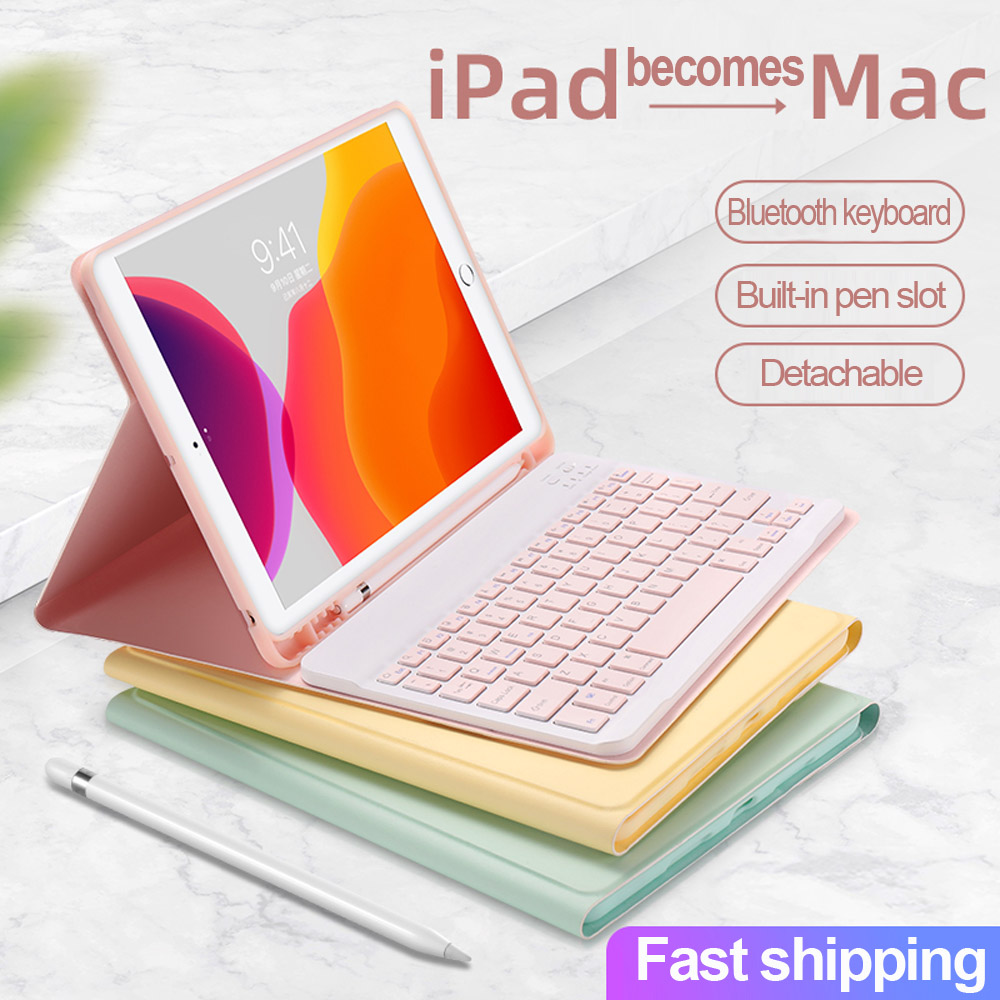 For IPad 9.7 2017 2018 2019 10.2 5th 6th 7th Generation Bluetooth Keyboard Mouse Case For IPad Air 1 2 3 Pro 10.5 11 2020 Cover