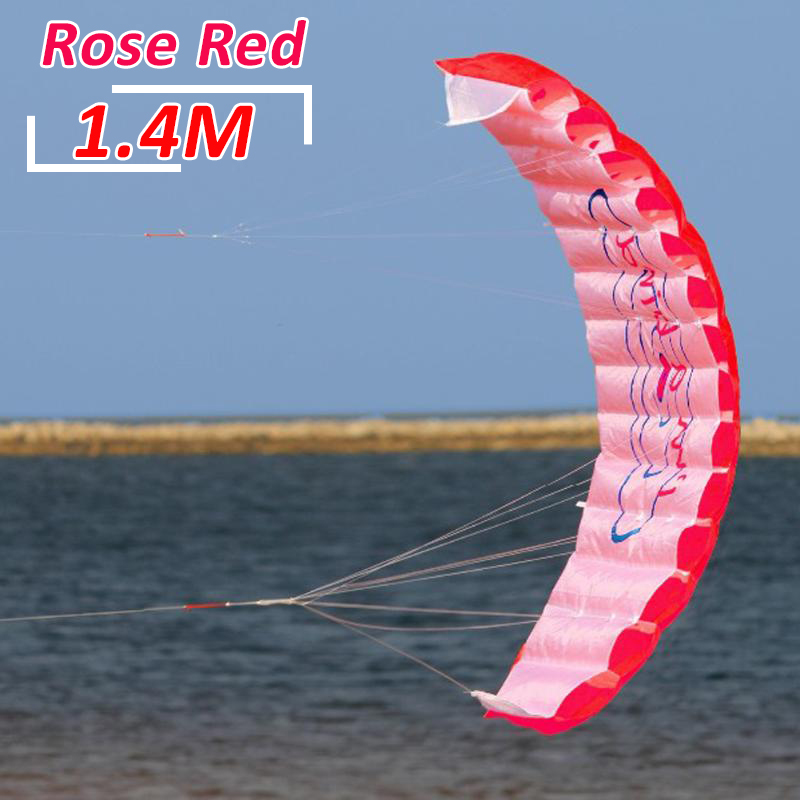 1.4m / 1.8m / 2.5m Dual Line Stunt Power Kite Soft Kite  Surf Flying Outdoor Fun Sports Kiteboard